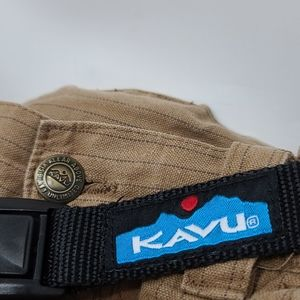 Men's KAVU brown pinstriped hiking shorts size 31